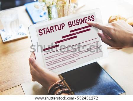 Startup New Business Strategy Concept