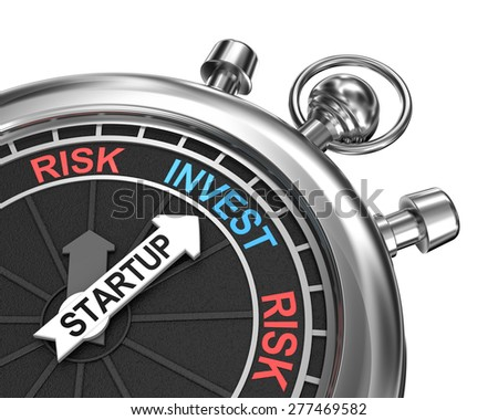 Startup risk invest concept - stock photo