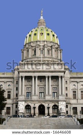 State Capitol building, Harrisburg, Pennsylvania - stock photo