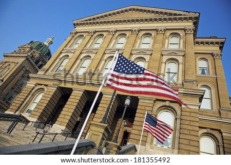 State Capitol Building in Des Moines, Iowa - stock photo