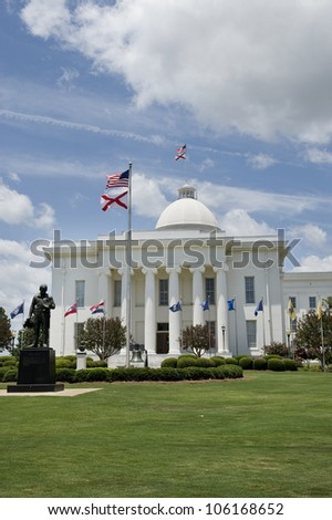 State Capitol of Alabama, in Montgomery,Alabama. - stock photo
