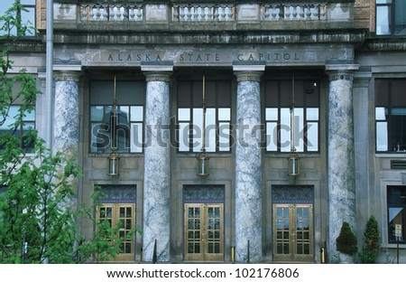 State Capitol of Alaska, Juneau - stock photo