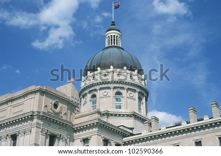State Capitol of Indiana, Indianapolis - stock photo
