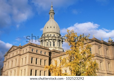State Capitol of Michigan, Lansing - stock photo