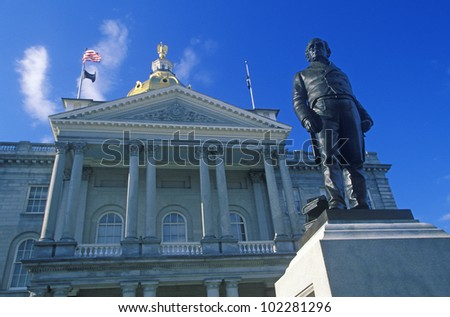 State Capitol of New Hampshire, Concord - stock photo