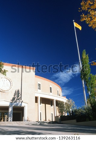 State Capitol of New Mexico in Santa Fe, NM - stock photo