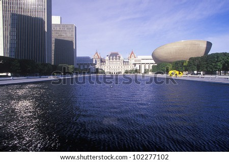 State Capitol of New York, Albany - stock photo