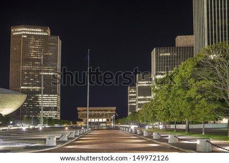 State Capitol of New York State and Office Buildings, Albany - stock photo
