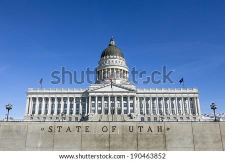 State Capitol of Utah, Salt Lake City - stock photo