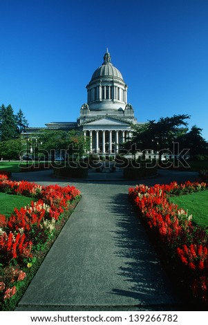 State Capitol of Washington in Olympia, WA - stock photo