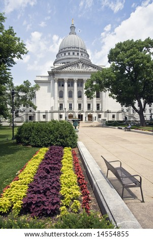 State Capitol of Wisconsin in Madison.