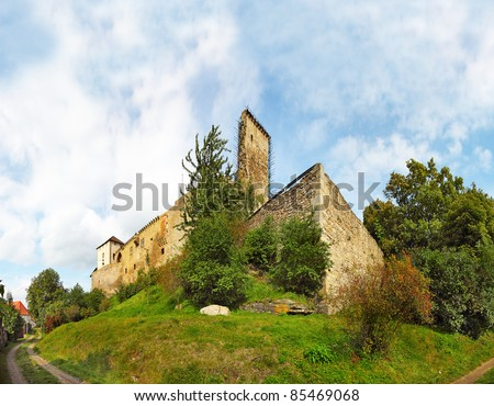 State castle Lipnice national culture monument, Czech republic. - stock photo