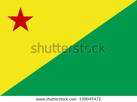 State flag of Acre in Brazil. - stock photo