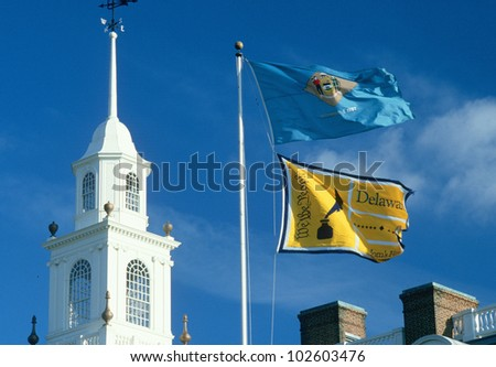 State Flag of Delaware - stock photo