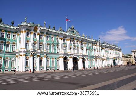 State Hermitage (Saint-Petersburg, Russia) - stock photo