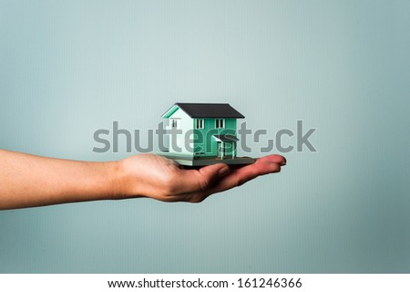 State in which to introduce a house - stock photo
