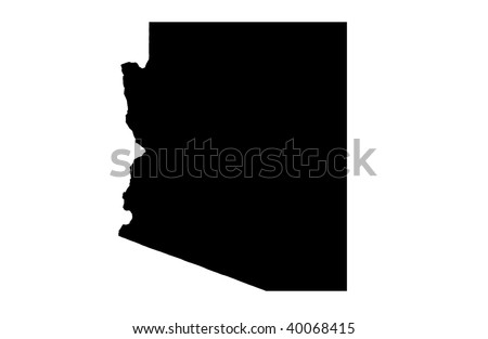 State of Arizona - white background - stock photo