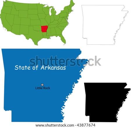 State of Arkansas, USA - stock photo