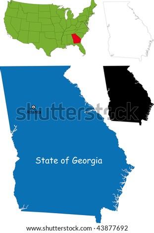 State of Georgia, USA - stock photo