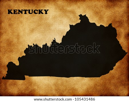 State of Kentucky on the old texture