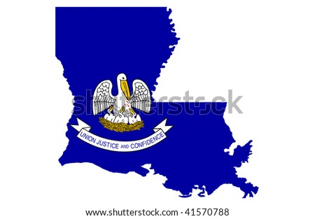 State of Louisiana - stock photo