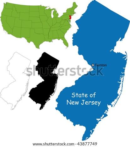 State of New Jersey, USA - stock photo