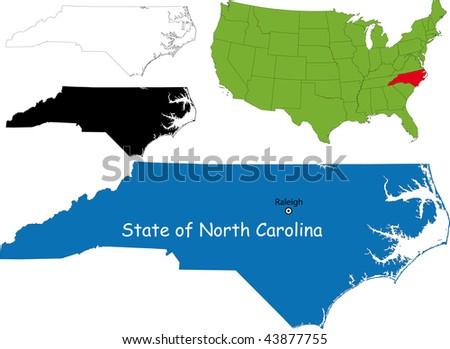 State of North Carolina, USA - stock photo