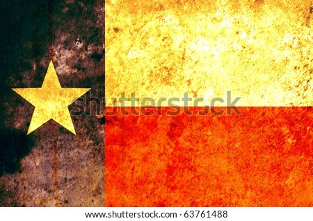 State of Texas flag with vintage feel - stock photo