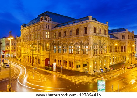 State Opera House in Vienna, Austria - stock photo