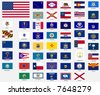 States flags of the united states of america - stock photo