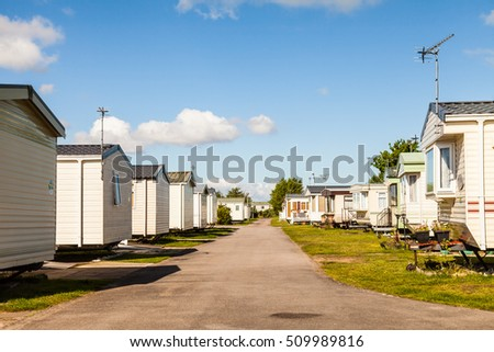 Static caravan Holiday Park in Prestatyn, North Wales, United Kingdom.