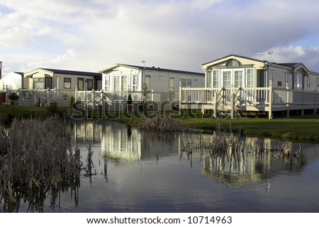 Static Holiday Homes - stock photo