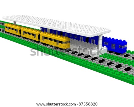 Station (made ??toy blocks)