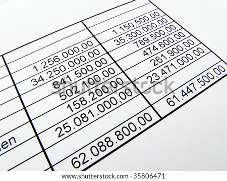 Statistic numbers - stock photo