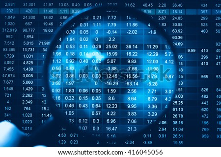 Statistics accounting info, which including of many economic statistics such as bar chart stats and pie stats diagram on digital information screen. - Business Research Data Economy Statistics Concept