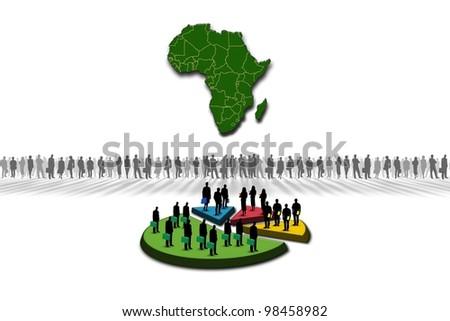 Statistics: Africa - stock photo