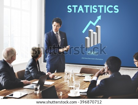 Statistics Analysis Business Data Diagram Growth Concept