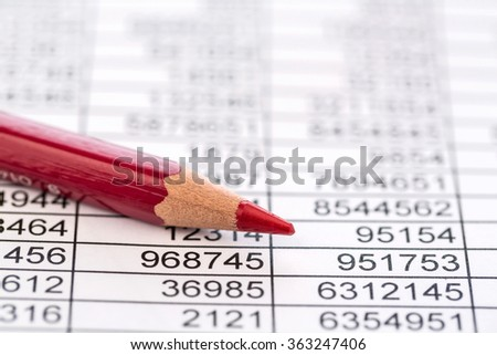 statistics and tables - stock photo