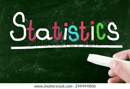 statistics concept - stock photo