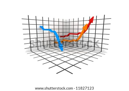 statistics - 3d isolated on white background - stock photo