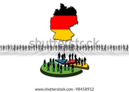 Statistics: Germany - stock photo