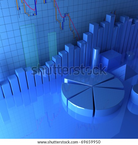 Statistics & Pie Charts - stock photo
