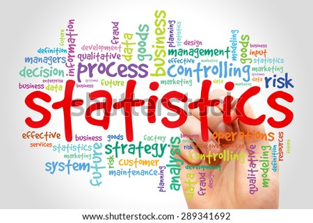 STATISTICS word cloud, business concept - stock photo