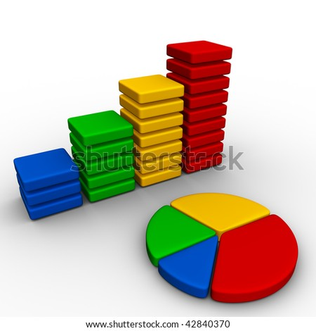 stats icon - stock photo