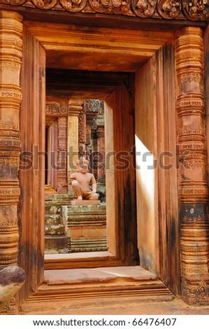 Statue at Angkor Wat, Cambodia - stock photo