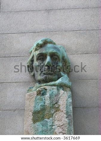 statue at the Campanile clock tower- Berkeley, - stock photo