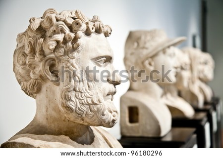 Statue collection of classical model, Naples, Italy - stock photo