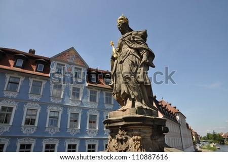 Statue in Bamberg, Germany - stock photo