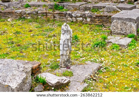 Statue in Dion, Greece - stock photo