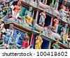 statue in hindu temple - stock photo